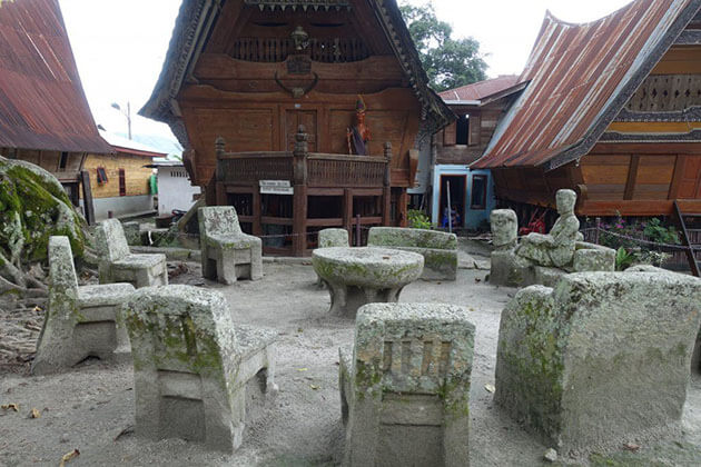 Ambarita village - where to see the famous stone chairs and exotic batak houses