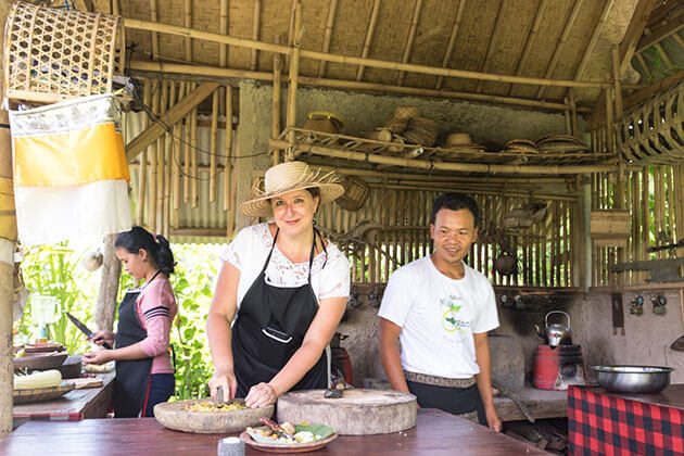 Balinese Cooking Class - interesting activity for bali family tours