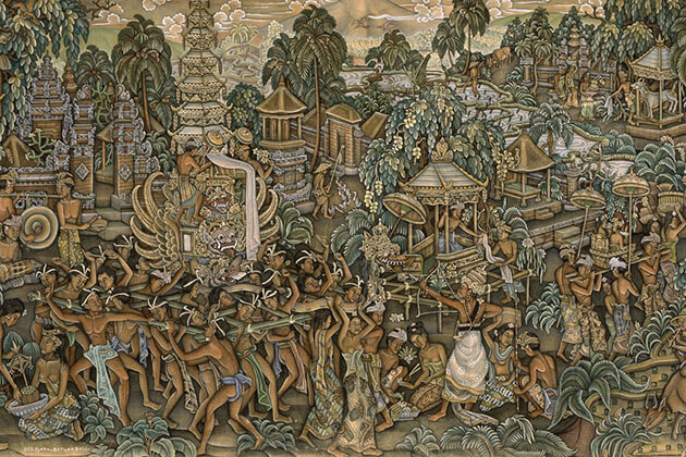 Balinese Painting - famous souvenir in indonesia