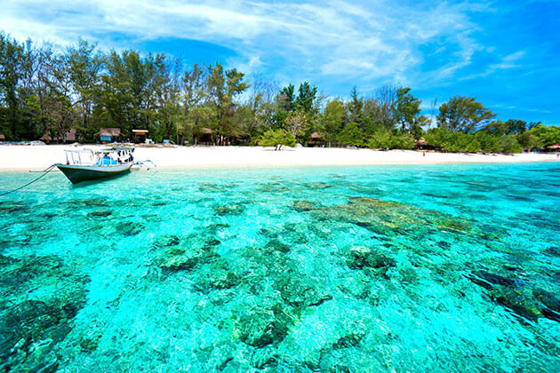 Gili Meno Island is one of the most beautiful beaches in Indonesia