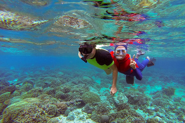 Gili Meno snorkeling - indonesia family trip