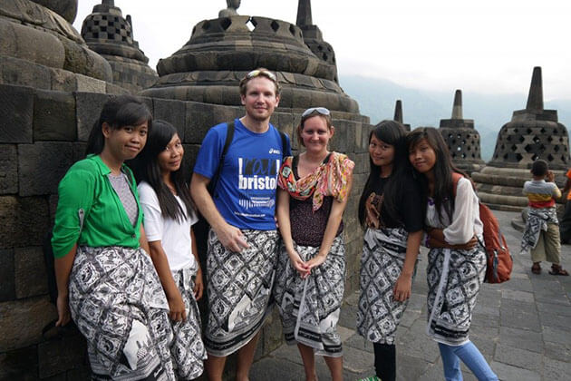 Go Indonesia Tours Customers in Borobudur