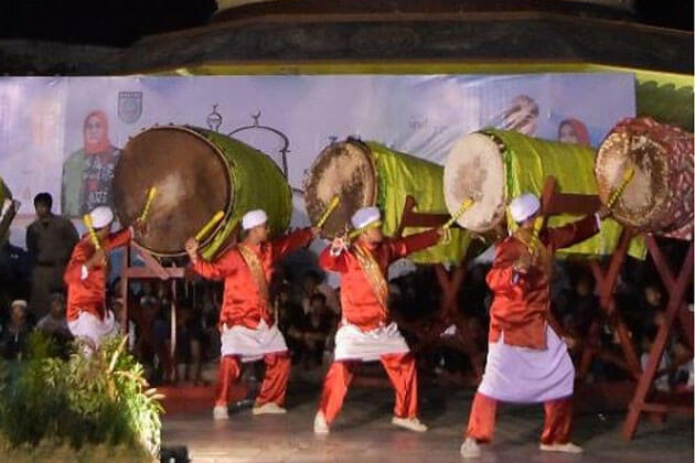Indonesia Islamic New Year with ngadulag tradition