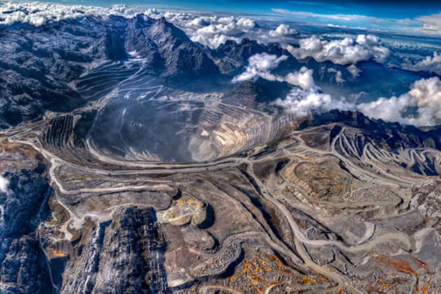 Indonesia facts - Grasberg Mine is the largest gold mine in the world