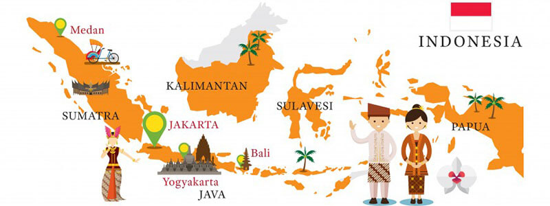 Indonesia tourist map - 5 steps to plan for indonesia trip