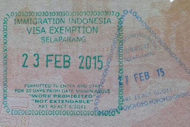 Indonesia visa exemption