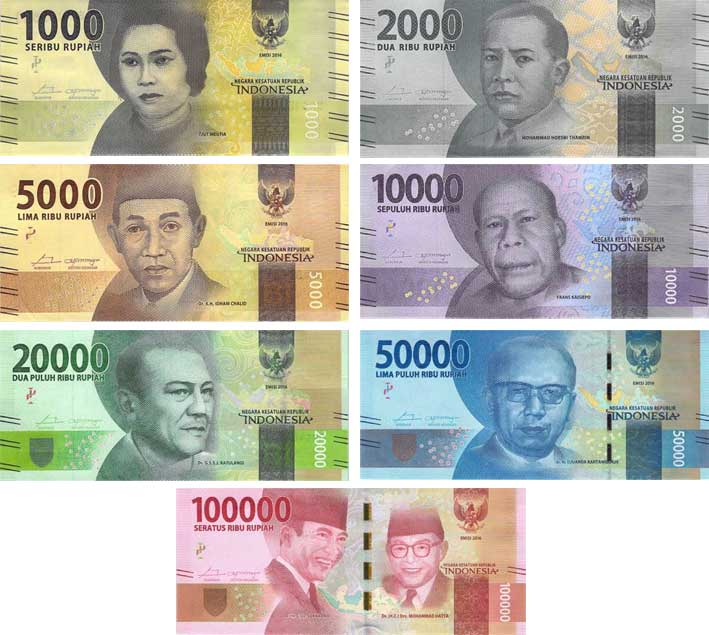 Indonesian banknotes