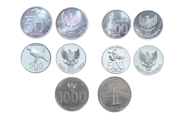 Indonesian rupiahs coins