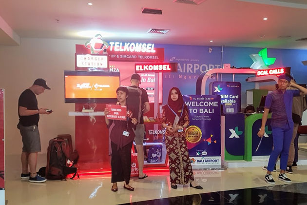 Main airports are best places to Buy a SIM Card in Indonesia