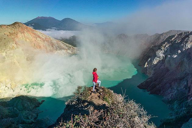 Mt Ijen - popular attraction in Indonesia