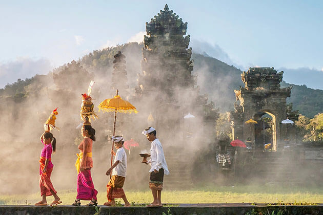 Sacred Temples in Bali in Indonesia family holiday