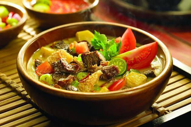 Soto Betawi - savoury Indonesia soup