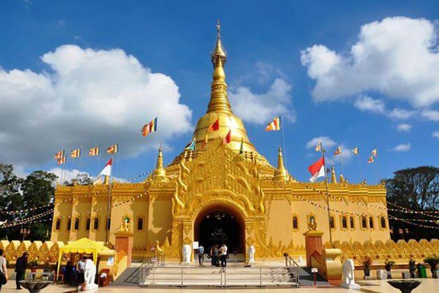 Taman Alam Lumbini - a replica of the shwedagon pagoda in yangon