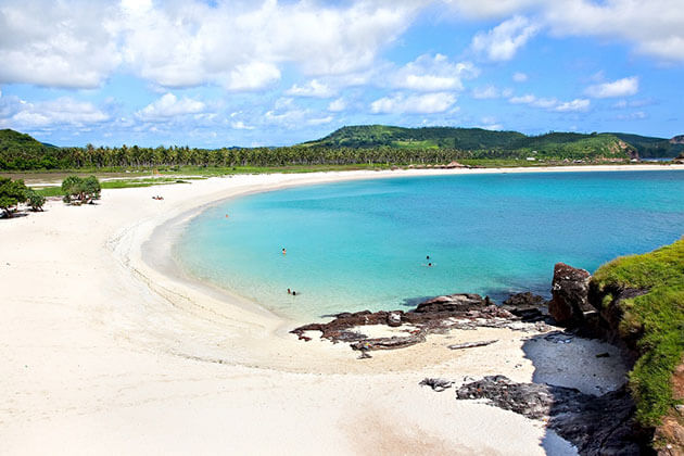 Tanjung Aan Beach is a serene beach in Indonesia