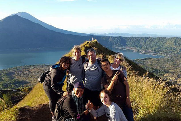 Tourists photo at Mt Batur