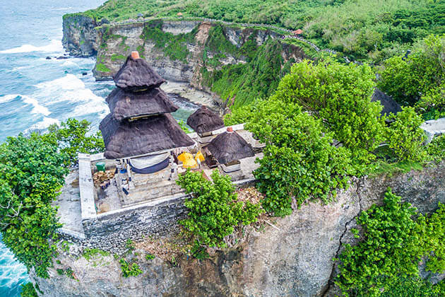 Uluwatu Temple is a famous temple in Bali