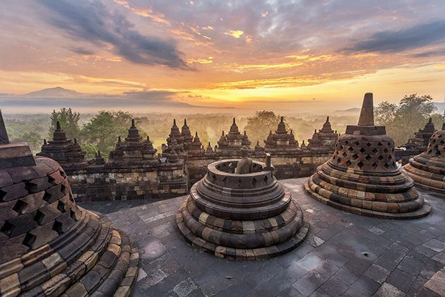 borobudur temple sunset is a great thing to see