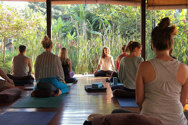 taking yoga class is one of the best things to do in Bali