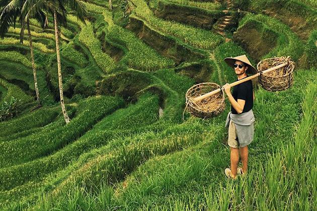tourists in Ubud