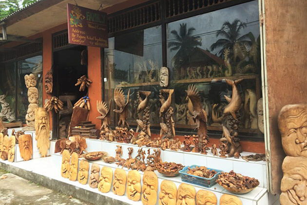 wooden products - good souvenir to buy in indonesia